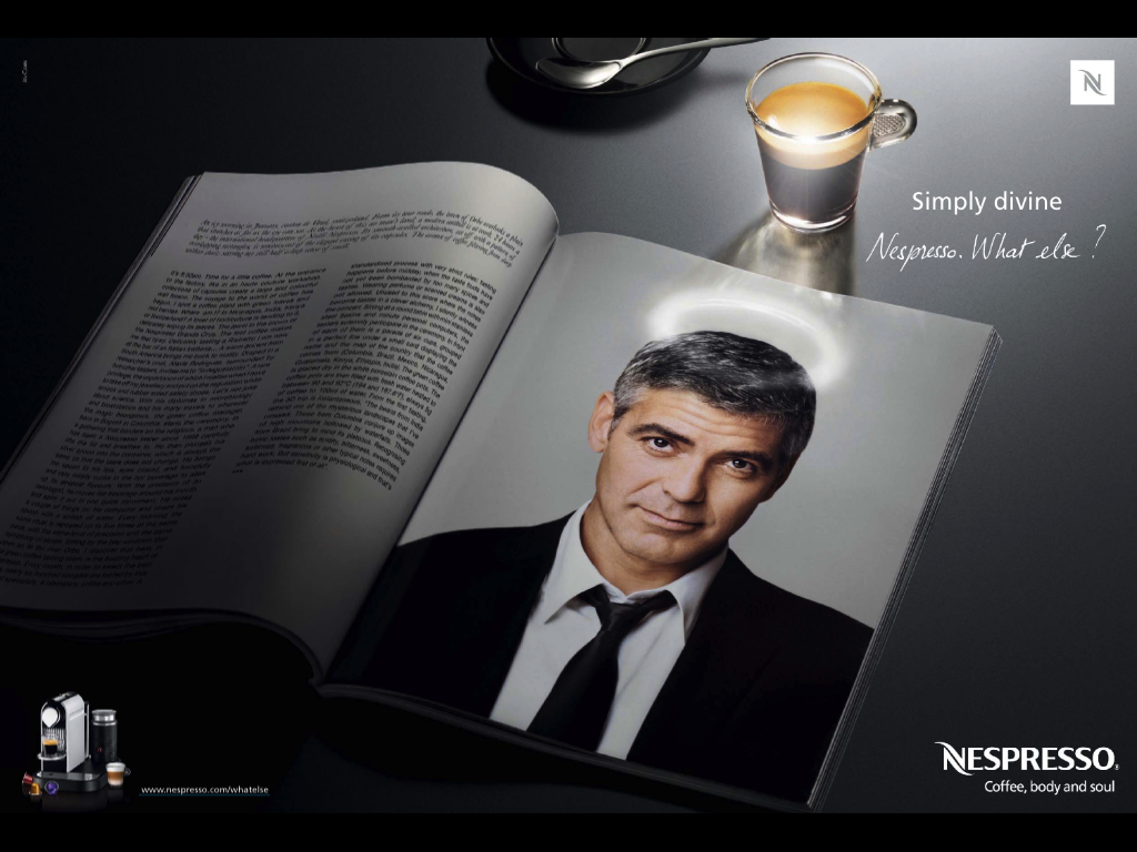 George clooney talking espresso and great coffee - Georges clooney what else ...
